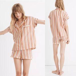 Madewell Rainbow Stripe Bedtime Pajama Top